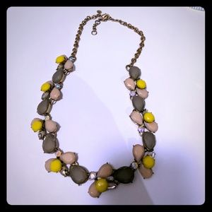 J. Crew necklace pink yellow gray